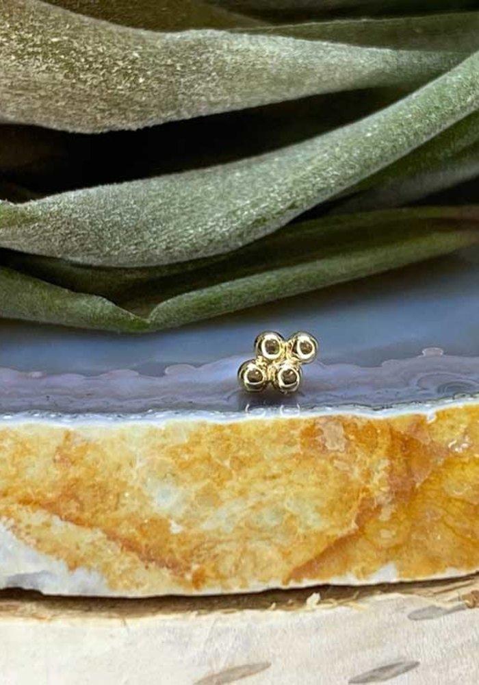 Junipurr Beaded Diamond Yellow Gold Threadless