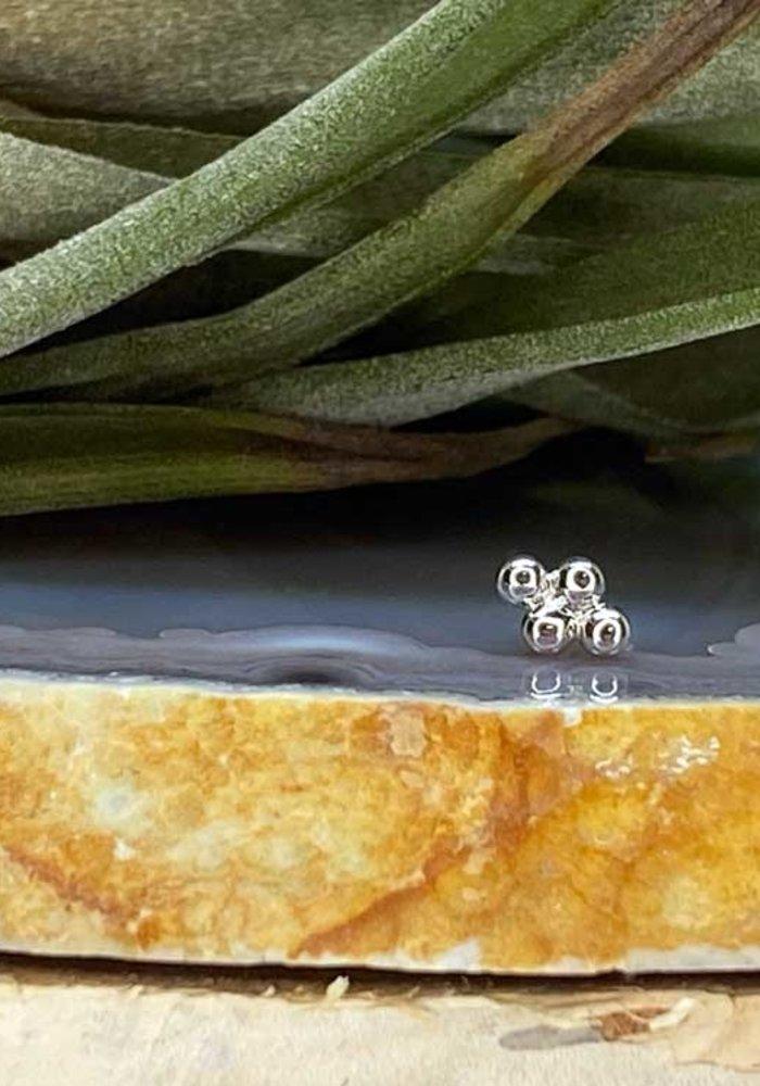 Junipurr Beaded Diamond White Gold Threadless