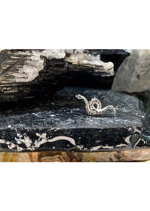 Junipurr Junipurr Textured Snake White Gold Threadless