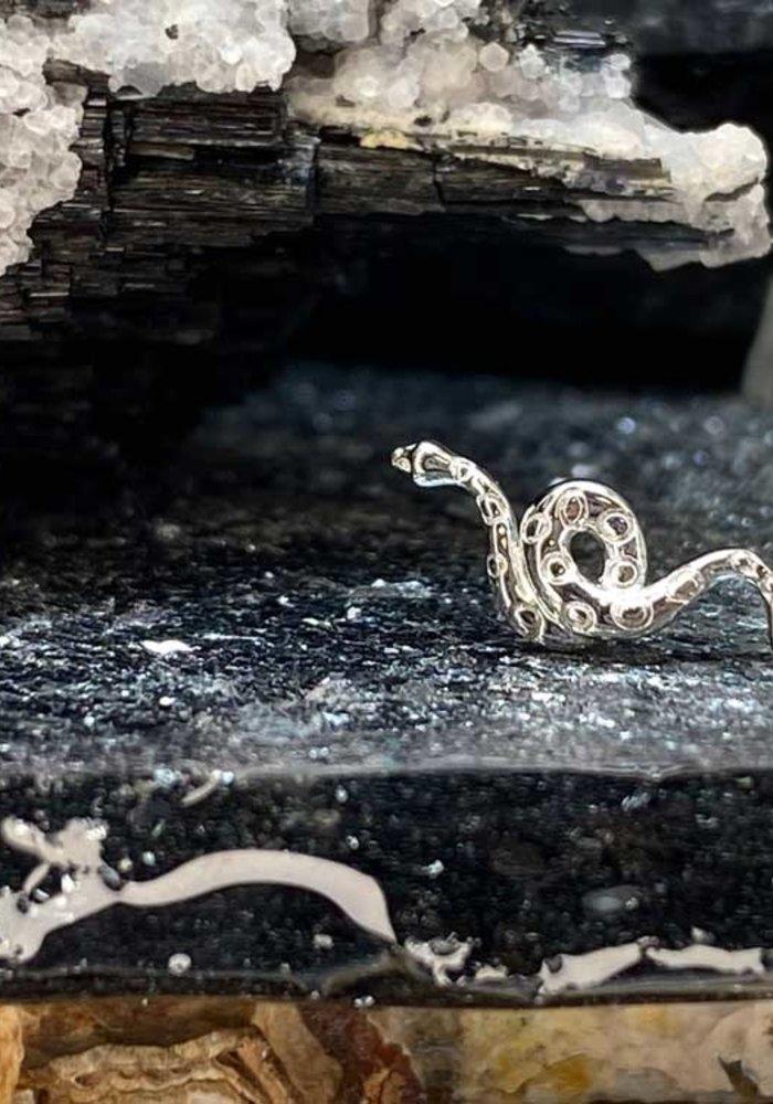 Junipurr Textured Snake White Gold Threadless