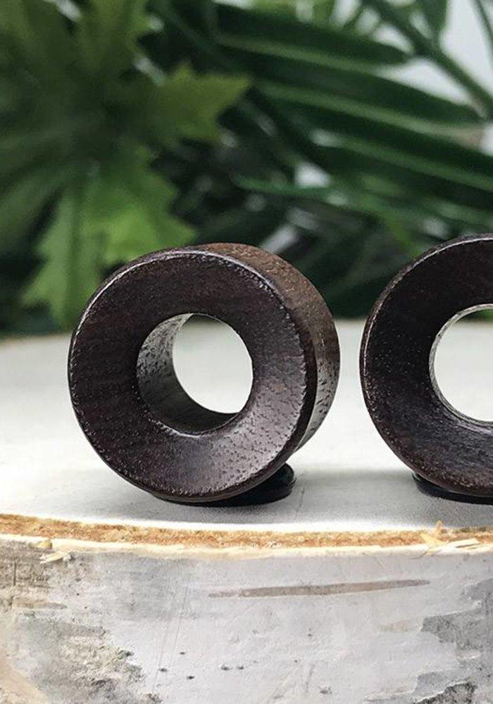 Omerica Organics Granadillo Wood ConcaveBasic Eyelet Double Flared Plug