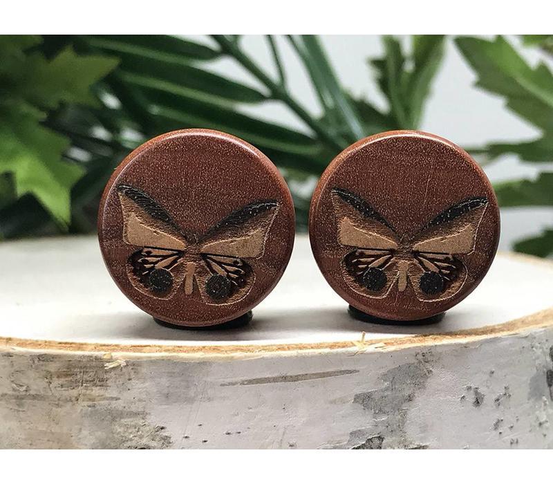 Omerica Organics Butterflies Inlay Double Flared Plug