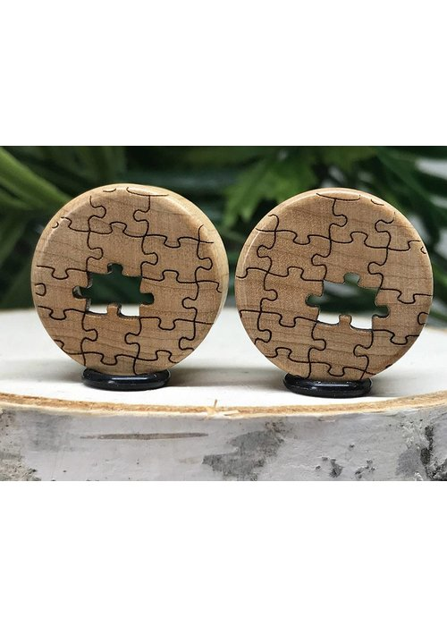 Omerica Omerica Organics Maple Missing Piece Etched/Graphic Double Flared Plug Eyelet