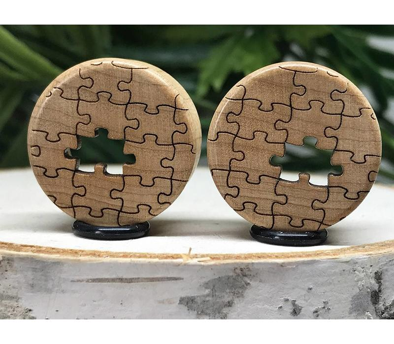 Omerica Organics Maple Missing Piece Etched/Graphic Double Flared Plug Eyelet