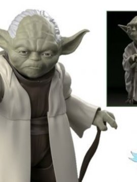 Bandai BAN214473 1/12 Scale Yoda Star Wars Plastic Model Kit