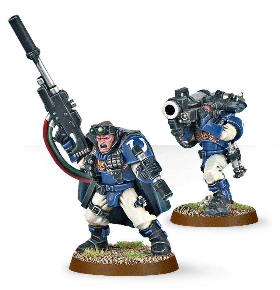 Citadel Space Marine Scout Squad with Sniper Rifles Warhammer 40k