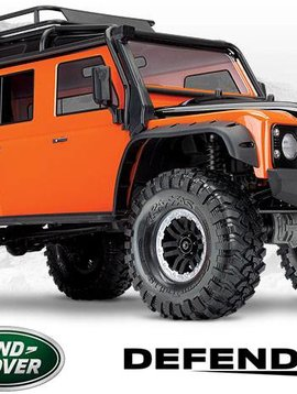 Traxxas tra82056-4 Orange trx4 Land Rover Defender