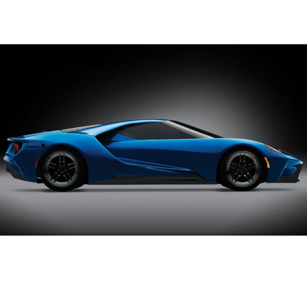 Traxxas   Scale Ford Gt Awd Supercar Rtr With Xl  And Tsm Liquid Blue Trat