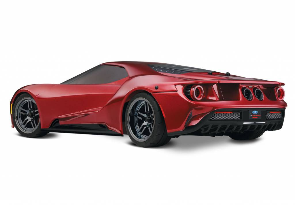 Traxxas Liquid Red Ford Gt   Scale Awd Supercar Rtr