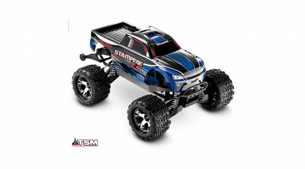 1/10 Stampede 4X4 VXL RTR with TSM, no On Board Audio Module, no Battery,  no Charger, Silver