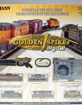 Bachman BAC24131 N Golden Spike Train Set w/DCC