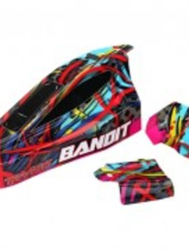Traxxas tra2449 Body; Bandit Hawaian graphics (painted, decals applied)