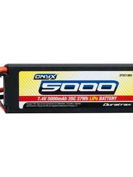 Duratrax DTXC1965 LiPo Onyx 2S 7.4V 5000mAh 35C Hard Case Traxxas
