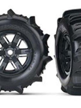 Traxxas TRA7773 X-Maxx Paddle Tires & Wheels Foam Inserts, Assembled, (2)