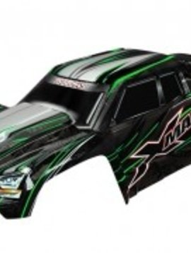 Traxxas 7711G Body, X-Maxx, green (painted, decals applied) (assembled with front & rear body mounts, rear body support, and tailgate protector)