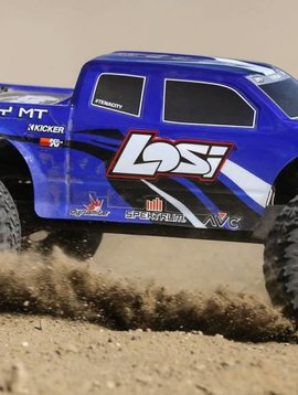 LOS TENACITY Monster Truck, Blue, AVC: 1/10 4WD RTR