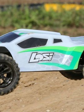 Losi 1/10 TENACITY-T White/Green 4WD Truggy Brushless RTR with AVC, (LOS03011T1)