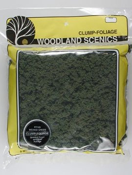 Woodland Scenics WOOFC183 Clump-Foliage Bag, Medium Green/165 cu. in.