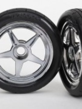 Traxxas TRA6975 Tire/Wheels Assembled/Glued Front (2)