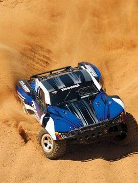 Traxxas Slash 1/10 2WD Silver-Blue, Xl-5 RTR w/2.4GHz Radio - No