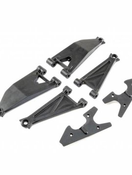 Losi Front Suspension Arm Set Upper/ Lower (Left and Right): Super Baja Rey (LOS254037)