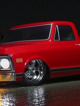 Vaterra 1/10 1972 Chevy C10 Pickup Truck V-100 S 4WD Brushed RTR, Red (VTR03100T2)