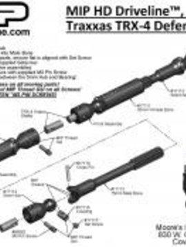 MIP 17110 HD Driveline Kit :TRX-4 Defender