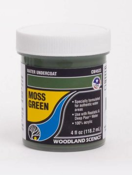 Woodland Scenics WOOCW4533 Water Undercoat, Moss Green