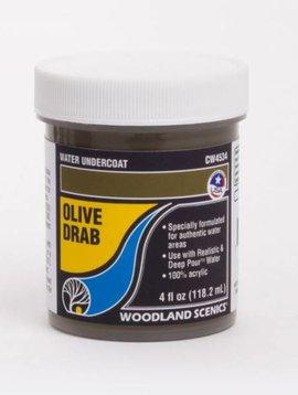 Woodland Scenics WOOCW4534 Water Undercoat, Olive Drab