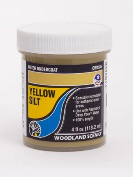 Woodland Scenics WOOCW4535 Water Undercoat, Yellow Silt