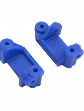 RPM Front Caster Block, Blue: TRA 2WD