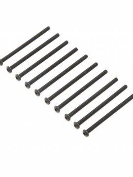 Losi Button Head Screws, Steel, Black Oxide, M4 x 65mm (10) (LOS255013)
