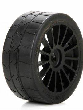 Losi LOS45009 Long Wear Tire Black Wheel Mounted (2): 6IX