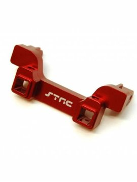 STRC STRT8237RR Aluminum Heavy Duty Rear Bumper Mount, Red: TRX-4