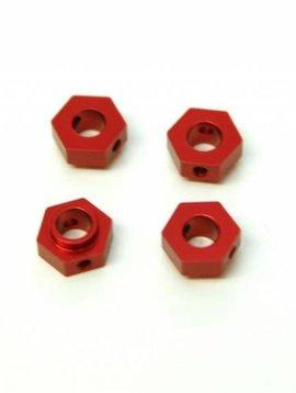 STRC ST8269R Aluminum Wheel Hex Adapters TRX-4 Red (4)