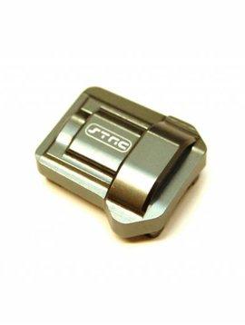 STRC ST8280GM Aluminum Differential Cover (1pc), Gun Metal: TRX-4