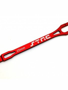 STRC ST3727R Alum Pro Racing Battery Strap Red Slash