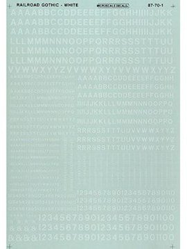 MSI MSI90101  HO Letters & Numbers, Gothic/White