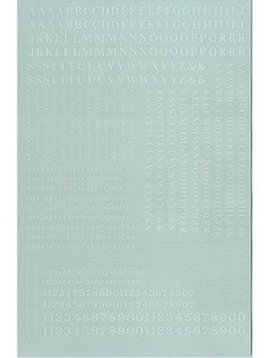 MSI MSI90031  HO Letters & Numbers, Condensed Roman/White