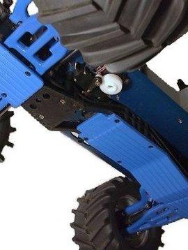 RPM RPM80775 3-Piece Skid Plate, Blue: T-Maxx 3.3, E-Maxx 3905