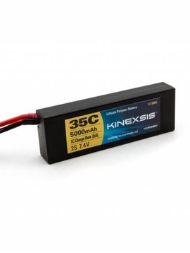Kinexsis KXSB2060EC 7.4V 5000mAh 2S 35C LiPo Hard Case: EC3