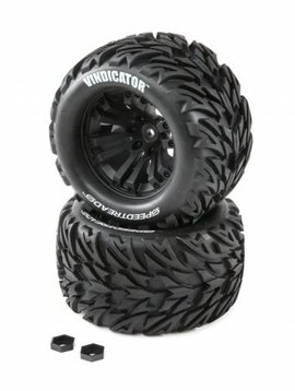 Dynamite DYNW0022 SPEEDTREADS Vindicator 1/10 ST/MT Tires MNTD (2)