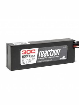 Dynamite DYN9006EC Reaction 7.4V  5000mAh 2s 30C Lipo Hard Case EC3