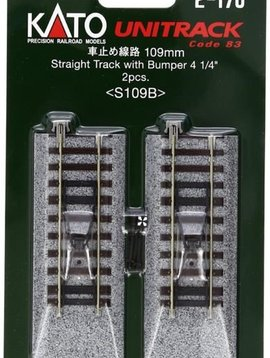 """Kato KAT2170 HO 109mm 4-1/4"""" Straight Bumper (2)"""