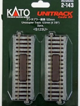 "Kato KAT2143 HO 123mm 4-7/8"" Straight Magnetic Uncoupler"