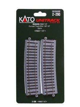 "Kato KAT2290 HO 867mm 34-1/8"" Radius Curve 10-Degree (2)"