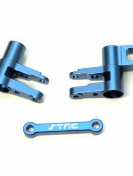 STR ST8343B Aluminum Steering Bellcrank Set 4Tec 2.0 Blue