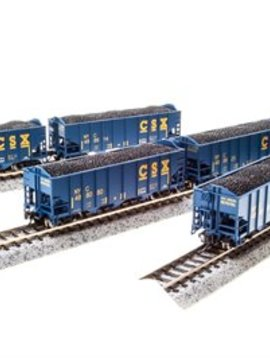 BLI N H2a 3-Bay Hopper, CSX/Blue/Yellow Lettering B(6)