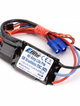 E-flite EFLA1040LB 40-Amp Lite Pro Switch-Mode BEC Brushless ESC (V2)