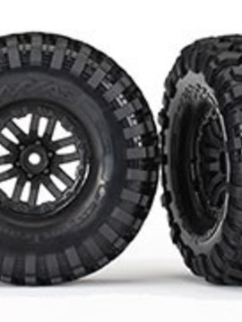 Traxxas TRA8272 TRX-4 wheels, Canyon Trail 1.9 tires (2) Assembled, Glued